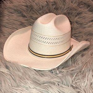 Vtg FP western woven cowboy hat SM MD